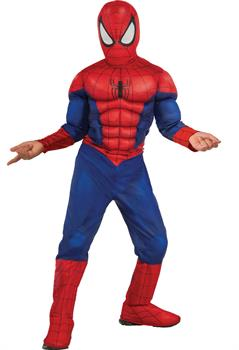 Boys Ultimate Spider-Man Muscle Chest Kids Costume for Halloween