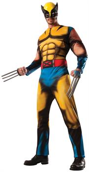 Men's Wolverine Deluxe Adult Costume - Yellow - One-Size