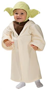 Star Wars: Yoda Toddler Costume - White - Toddler (2-4) for Halloween