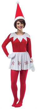 Elf on the Shelf Dress Adult Costume One-Size