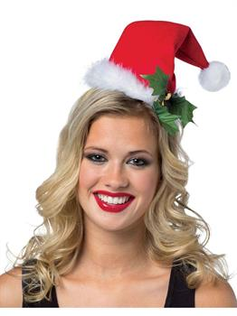 Women's Santa Hat Headband - Red - One-Size