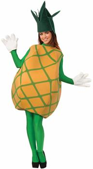 Women's Pineapple Adult Costume One-Size - Orange - One-Size
