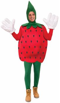 Men's Strawberry Adult Costume One-Size - Red - One-Size