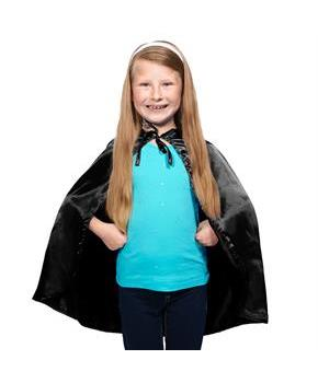 Black Cape For Fairy Tales or Superhero Fantasy Costume Accessory