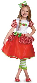 Girls Strawberry Shortcake Deluxe Toddler Costume - Red