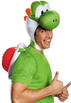 Men's Super Mario Bros: Yoshi Adult Kit - Green - Standard One-Size