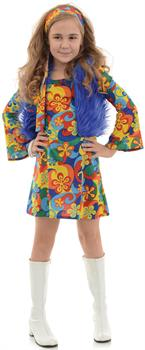 Girls Far Out Child Disco Costume for Halloween