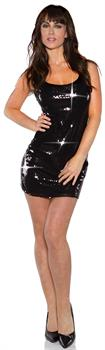 Black Sequin Short Adult Dress