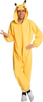 Pokemon: Pikachu Jumpsuit Adult Costume