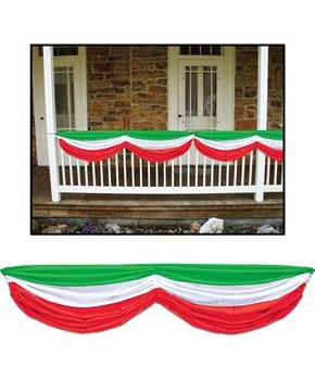 Red, White and Green Fabric Bunting