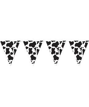 Cow Print Pennant Banner for Halloween