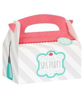 Girls Little Spa Party Empty Favor Boxes