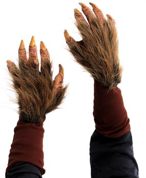 Faux Fur Covered Beast Hand Gloves