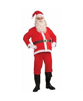 Santa Clause Disposable Adult Costume