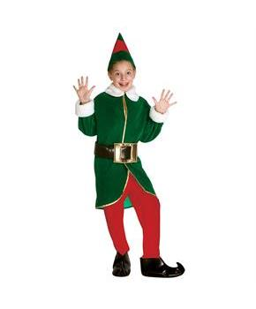 Green Elf Child Costume