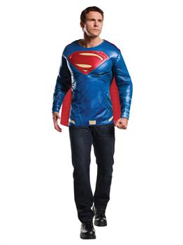 Batman V Superman: Dawn Of Justice- Superman Muscle Chest Adult Top Costume