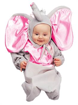 Girls Little Elephant Bunting Newborn Infant Costume - 0-6M