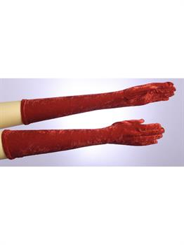 Long Red Adult Gloves