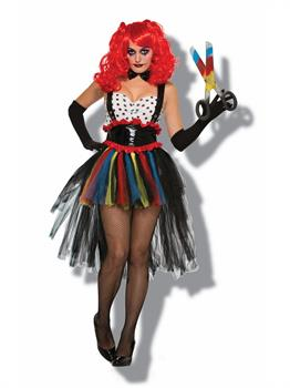 Women's Evil Girlie Clown Costume
