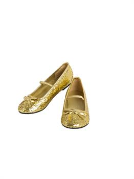 Girls Ballet Shoe Gold