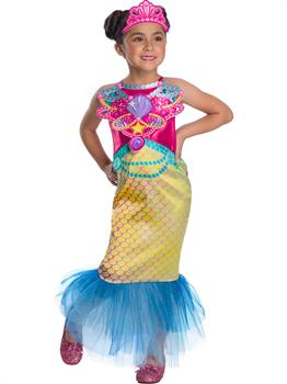Girls Barbie Mermaid Costume