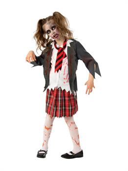 Girls Zombie School Costume