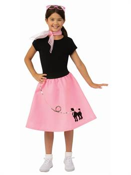 Girls Poodle Skirt Costume
