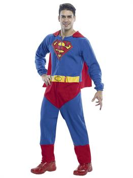 Men's Superman Adult Onesie Costume
