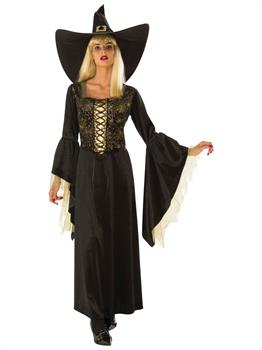 Womens Golden Web Witch Costume