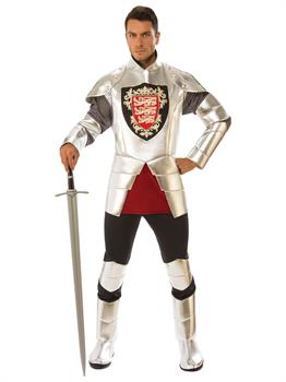 Mens Silver Knight Costume