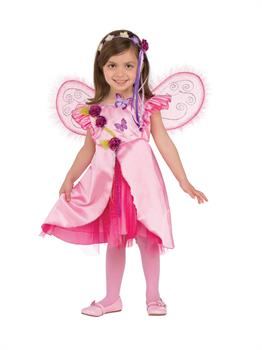 Girls Rose Fairy Costume