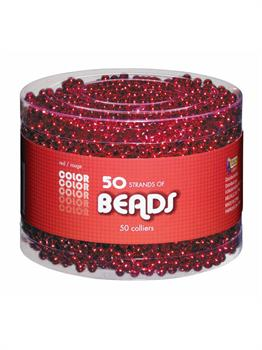 Red Bead Necklaces-Multipack