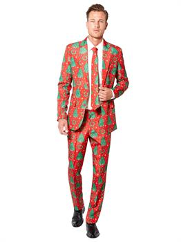 Suitmeister Christmas Tree Men's Suit and Tie Set