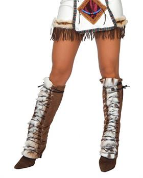 Fur Trimmed Indian Leg Warmer & Boot Covers