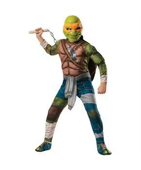 Teenage Mutant Ninja Turtles Deluxe Michelangelo Kids Costume