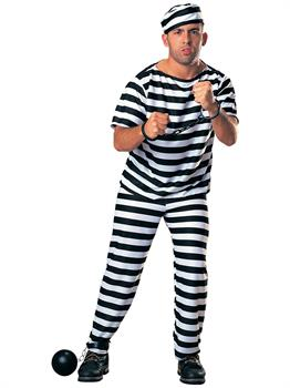 Adult Prisoner Man Costume (Fuller Cut)