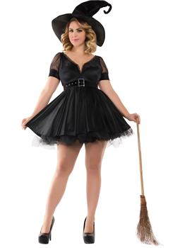 Adult Sassy Plus Bewitching Pin-Up Witch Costume