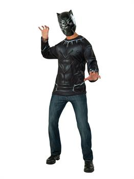 Adult Black Panther Costume Top And Mask Costume