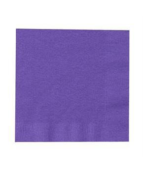 Perfect Purple (Purple) Beverage Napkins