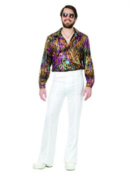 Multi Flame Disco Shirt Costume