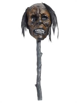 Voodoo - Deluxe Shrunken Head On Stake - Light Up