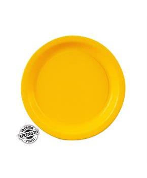 School Bus Yellow (Yellow) Dessert Plates