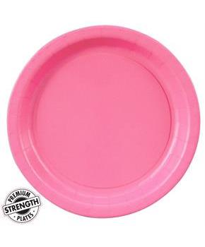 Candy Pink (Hot Pink) Dinner Plates