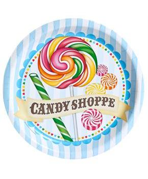 Girls Candy Shoppe Dinner Plates