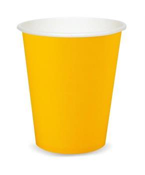 School Bus Yellow (Yellow) 9 oz. Paper Cups