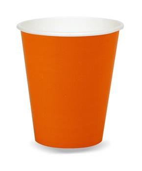 Sunkissed Orange (Orange) 9 oz. Paper Cups