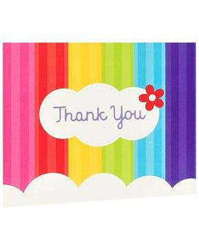 Rainbow Wishes Thank-You Notes