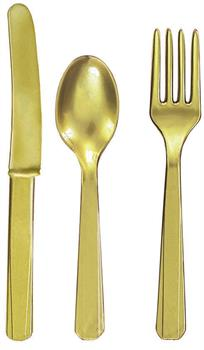 Gold Forks, Knives and Spoons