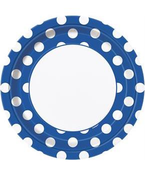 Men's Blue and White Dots Dinner Plates for Easter Day