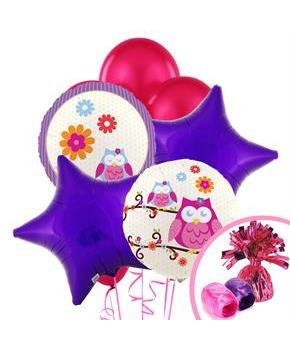 Owl Blossom Balloon Bouquet - Multi-colored